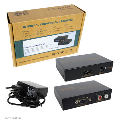 Адаптер HD VGA/HDMI Video Converter+Charge (black) HWH-2058