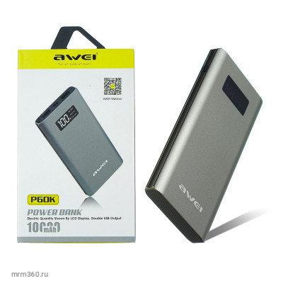 Power bank Awei P60K 10000mAh Gray